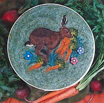 Blackberry Lane Hare on the Run punchneedle