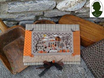 Sara Pochette Halloween w/4 wooden buttons