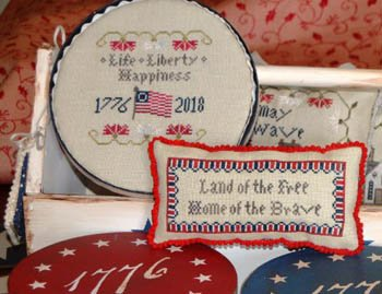 Abby Rose Designs Long May She Wave Series - Life, Liberty, Happiness 2 of 4