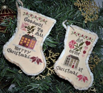 Abby Rose Designs Sampler Stockings 2018