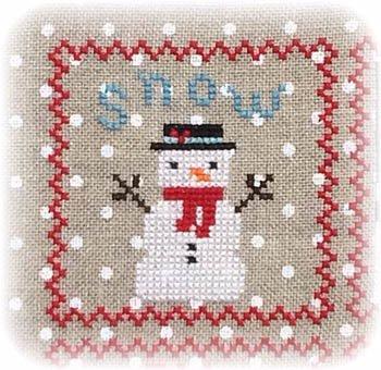 Annie Beez Folk Art Snowy 9 Patch Series Part 1