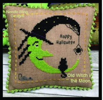 Needle Bling Mini Halloween: Old Witch in the Moon 2 of 7