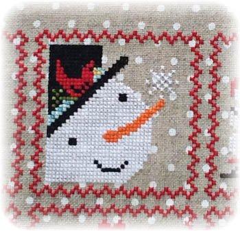 Annie Beez Folk Art Snowy 9 Patch Series Part 2