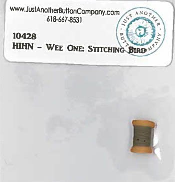 JABCO 10428 Heart in Hand Wee One Stitching Bird button