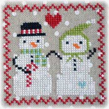 Annie Beez Folk Art Snowy 9 Patch Series Part 5