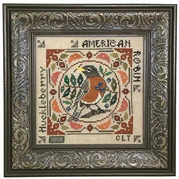 Tellin Emblem Birdie & Berries American Robin