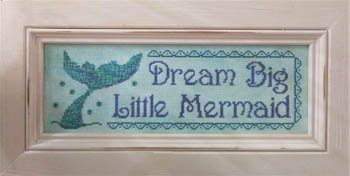 Vintage Needlearts Dream Big Little Mermaid
