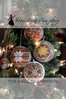 Heartstring Samplery Tea Ball Ornaments