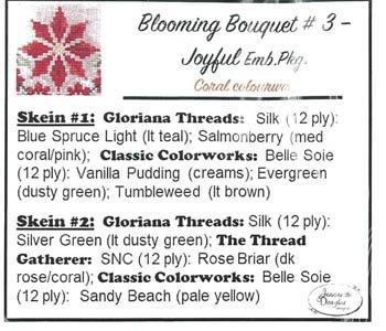 Jeannette Douglas Designs Blooming Bouquets #3 Joyful embellishment pack Coral Colourway