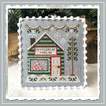 Country Cottage Needleworks Snow Village: Peppermint Parlor 4 of 11