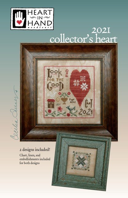 Heart In Hand Oh By Gosh cross stitch pattern