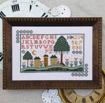 Hello From Liz Matthews Night Time in Old Town Cross Stitch