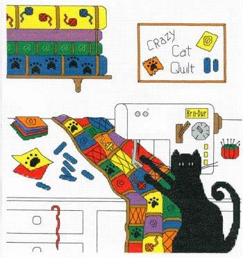 Imaginating Crazy Quilt Cat