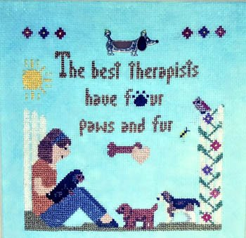 Sister Lou Stitches The Best Therapist Dogs!