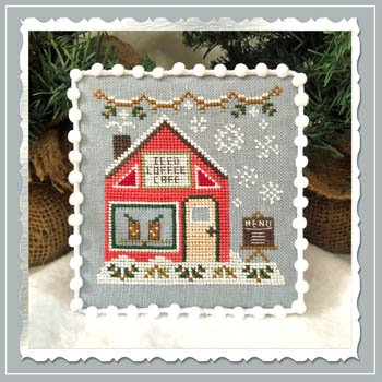 Country Cottage Needleworks Snow Village: Iced Coffee Cafe 10 of 11