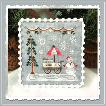 Country Cottage Needleworks Snow Village: Snow Cart Stand 11 of 11