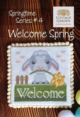 Cottage Garden Samplings Springtime Series #4 Welcome Spring