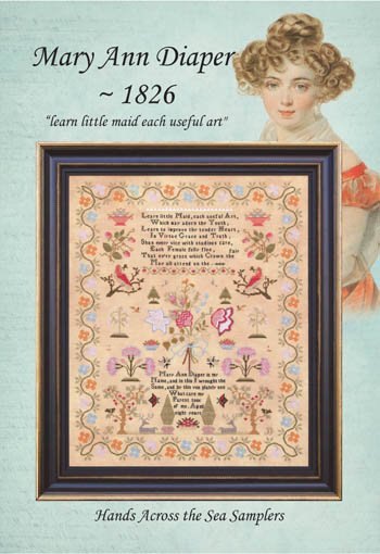 Hands Across the Sea Samplers Mary Ann Diaper - 1826