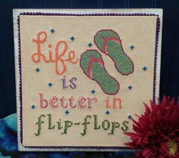 Vintage NeedleArts Life is Better in Flip-Flops