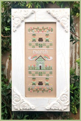 County Cottage Needleworks Sampler of the Month - March