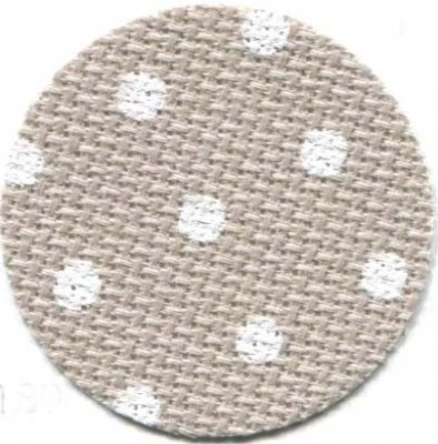 Wichelt/Zweigart Beige/White Dots Petit Point aida 20ct