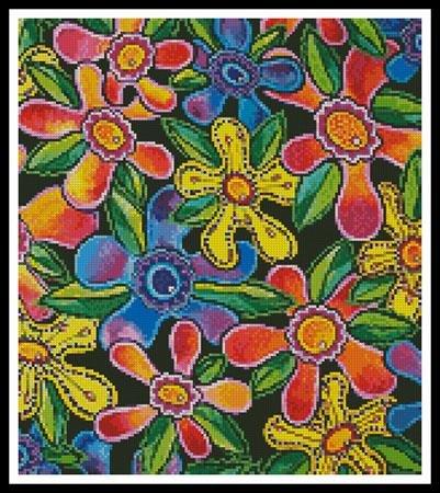 Artecy Cross Stitch Funky Flowers - Crop