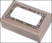 Cottage Garden Rectangle Jewelry Box - Grey