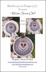 Blackberry Lane Designs Winter Snow Owl