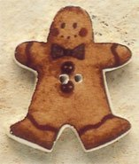 Mill Hill Debbie Mumm 43093 Gingerbread Man