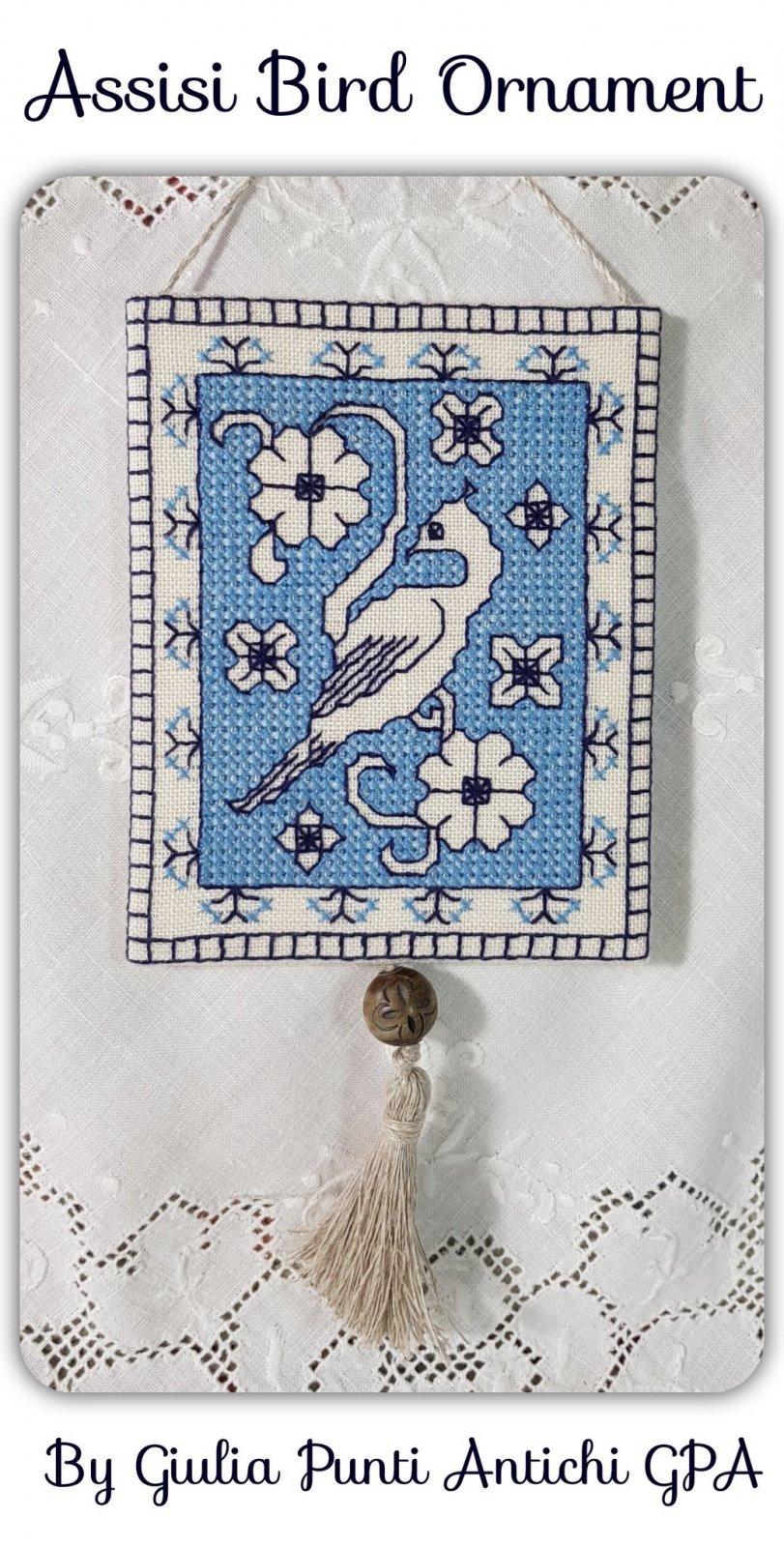 Guilia Punti Antichi Assisi Bird Ornament