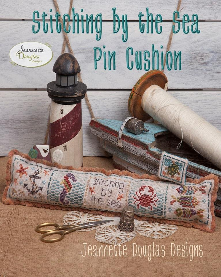 Jeannette Douglas Designs Stitching By the Sea Pincushion