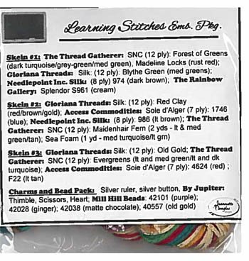 Jeannette Douglas Designs Learning Stitches Embellishment Pack