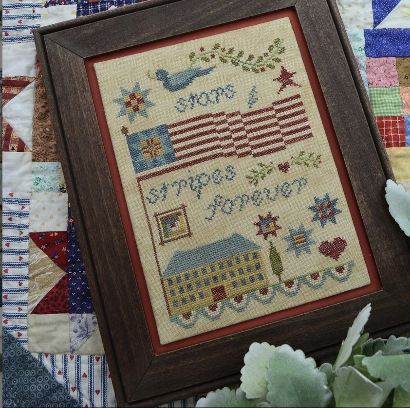 Annie Beez Folk Art Stars and Stripes Forever