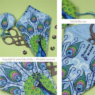 Faby Reilly Designs Peacock Scissor Case