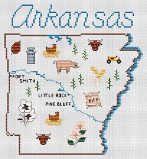 Sue Hillis Designs Map of Arkansas