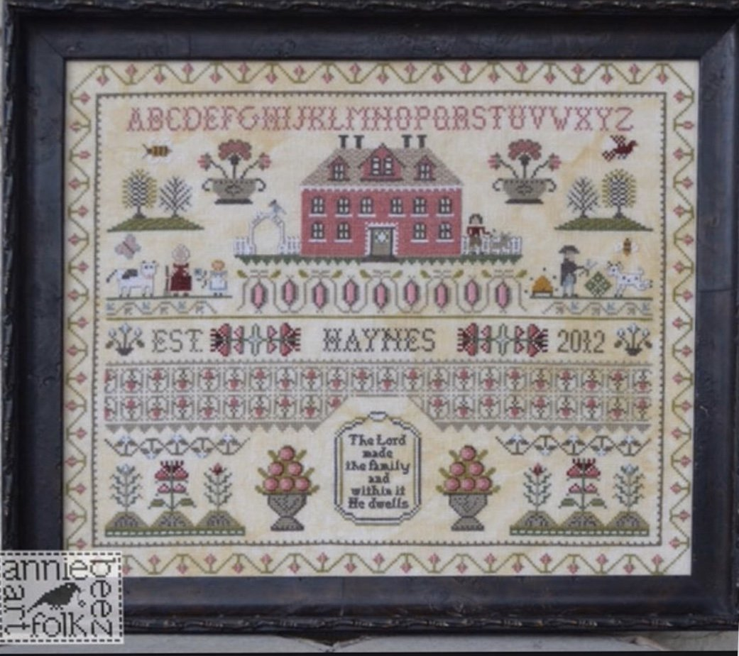 Annie Beez Folk Art The Haynes Sampler