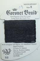 Coronet Braid 8 91B Black