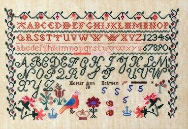 Queenstown Sampler Designs Hester Ann Eckman c.1835