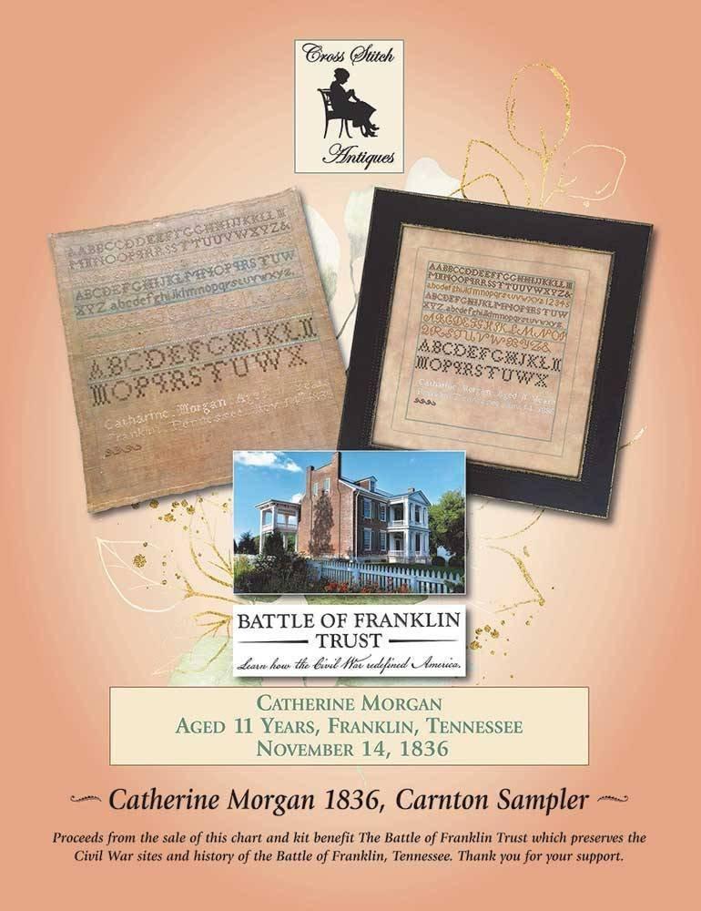 Cross Stitch Antiques Catherine Morgan 1836 - Carnton Sampler