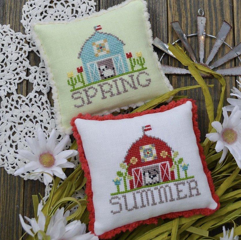 Annie Beez Folk Art Bitty Barns: Spring and Summer