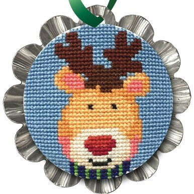 Creative Needle Arts Jolly Reindeer Ornament kit