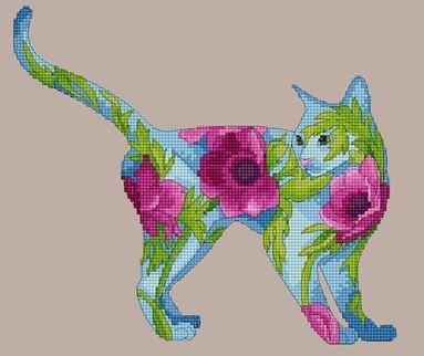 Lena Lawson Needlearts Anemone Cat