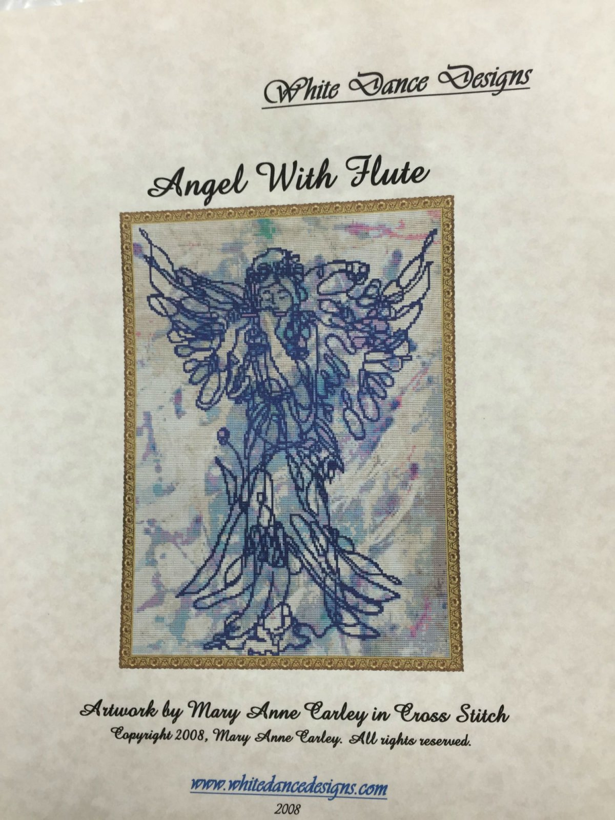White Dance Designs Angel With Flute