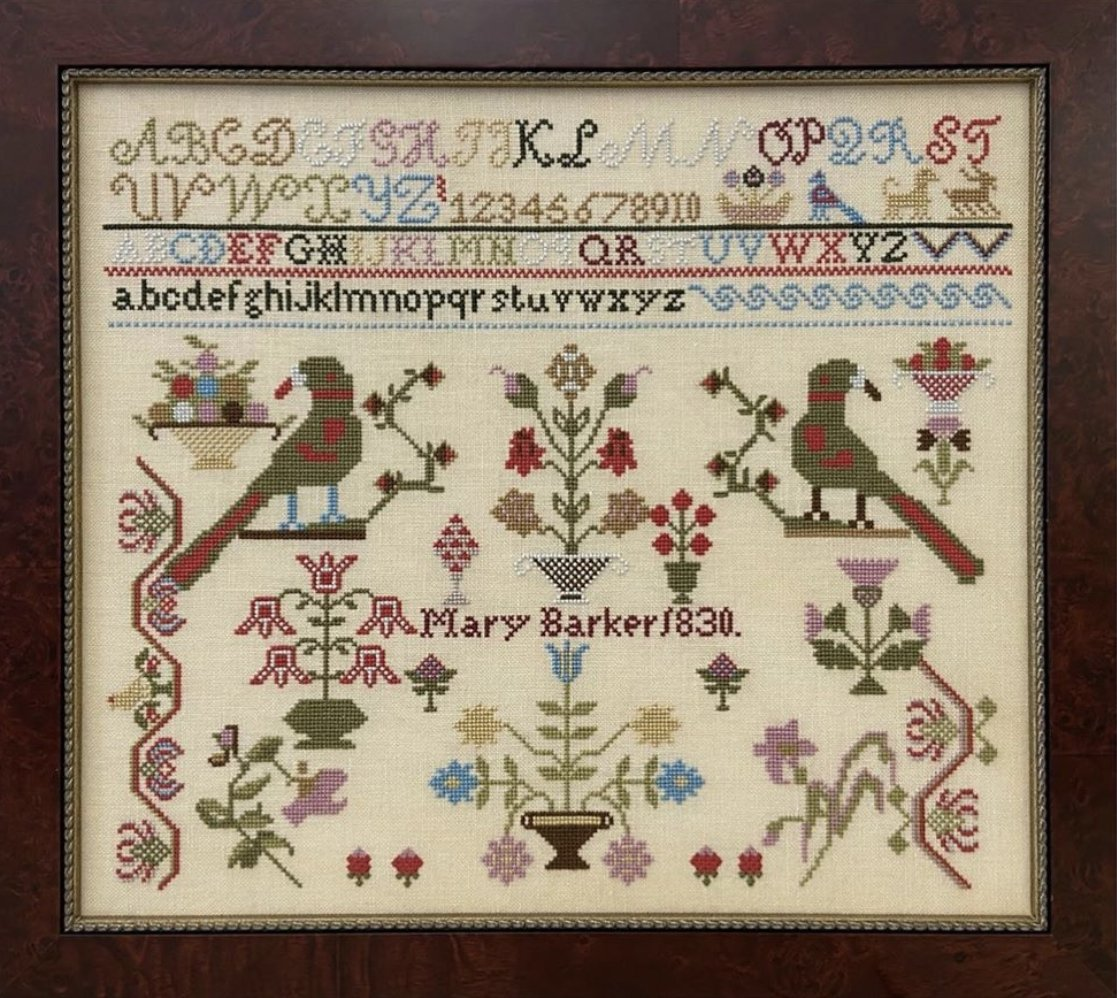 Just Stitching Along Mary Barker 1830