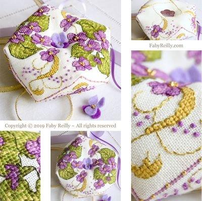 Faby Reilly Designs Violet Biscornu
