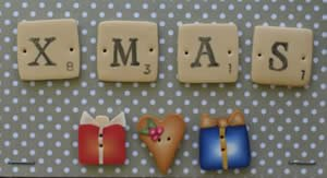 PuntiniPuntini Scrabble Series - Xmas Buttons
