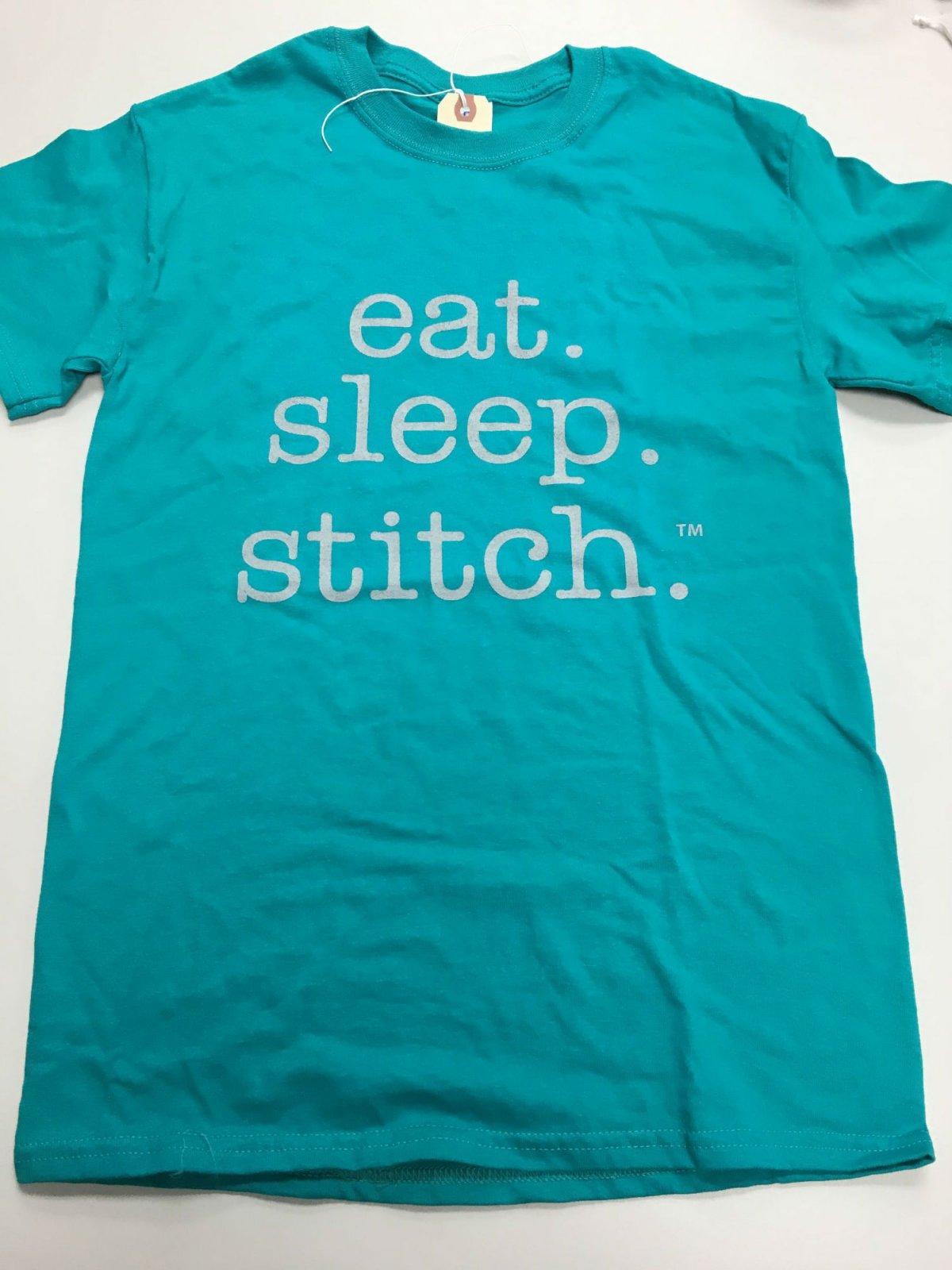 eat sleep stitch t shirt sz. S teal