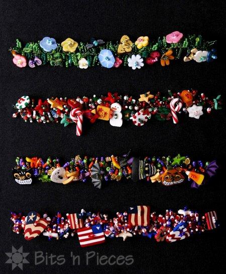 Bits 'n Piecs Button Bracelets Americana