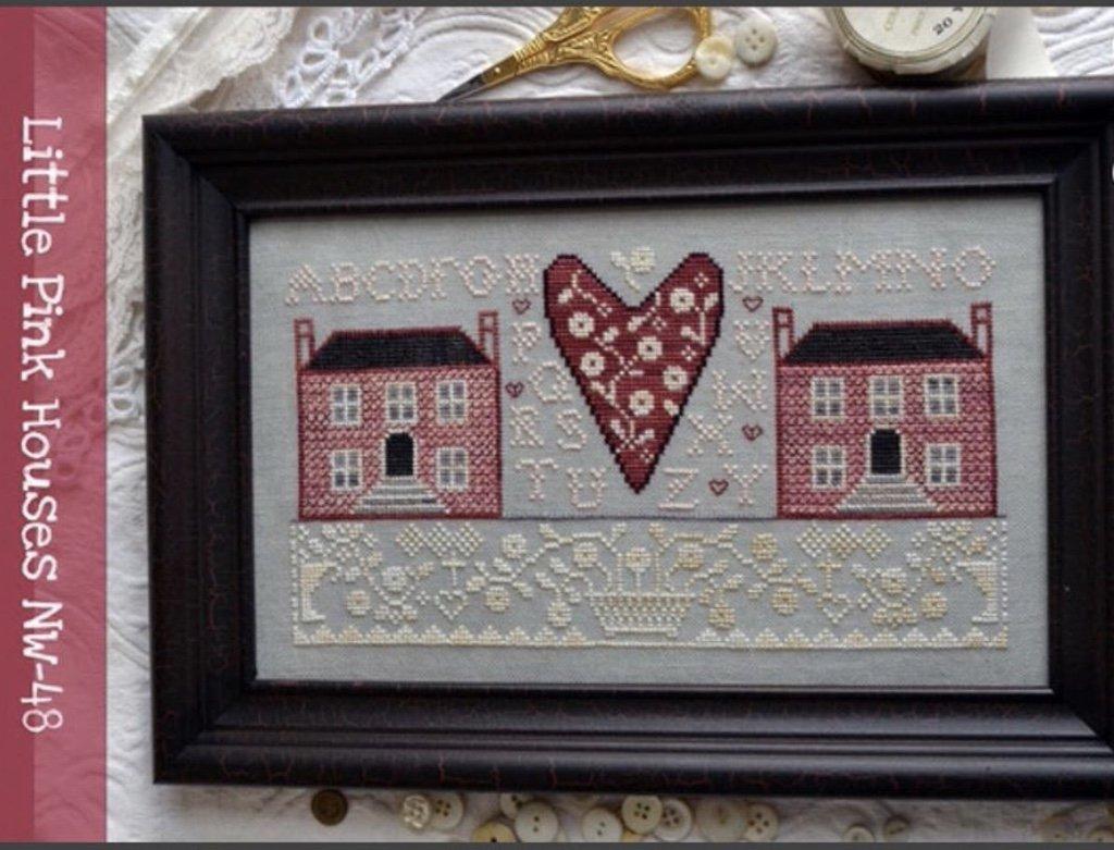 Annie Beez Folk Art Little Pink Houses