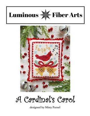Luminous Fiber Arts A Cardinal's Carol